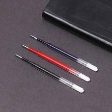 5 шт./лот черные, голубые чернила, гелевая ручка, заправка, замена для металлического пресса, вращающиеся нейтральные заправки 0,5 мм, школьные принадлежности