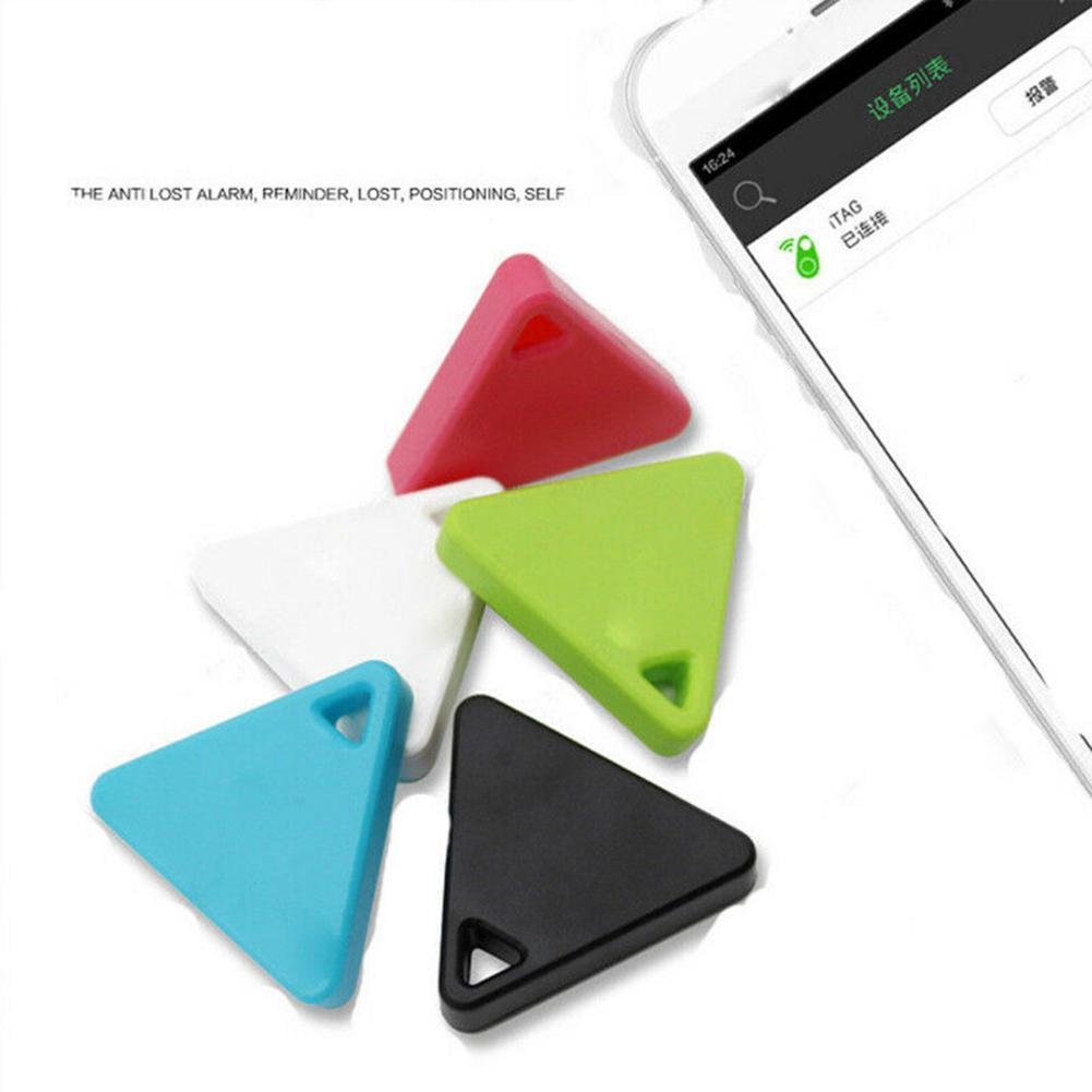 Zwierzęta Anti-Lost Bluetooth Tracer Mini urządzenie śledzące GPS trójkąt klawisze dzieci Trackers trójkąt odległość robocza wynosi około 75 stóp