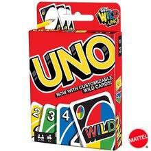 Mattel UNO игры Семья забавные развлечение настольная игра Fun игральные карты детские игрушки подарочной коробке uno карточная игра