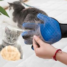 Kot rękawiczki futro psa grzebień szczotka dla psów artykuły dla zwierząt Off depilacja włosy kota Cleaner tanie tanio CN (pochodzenie)