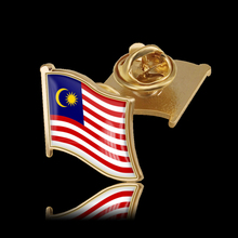 Malaysia 3D Brooch Waving Flag Lapel Pin Badge for Clothes Bags Backpacks