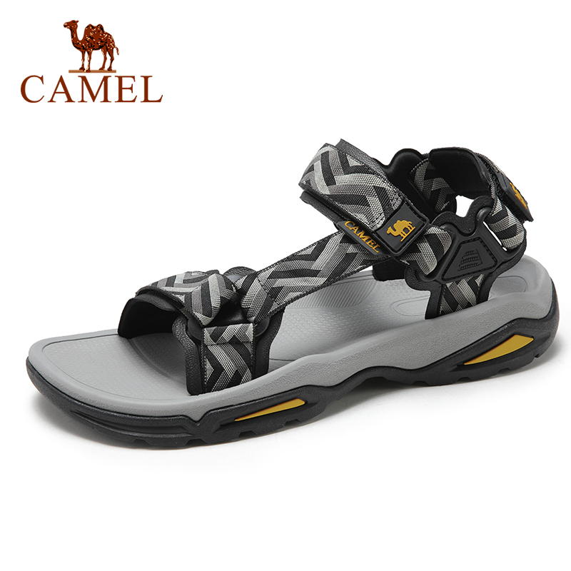 CAMEL Men's Sandal Men Shoes Lightweight Breathable Non-slip Outdoor Sandals Beach Men Shoes Comfotable  Cushioning