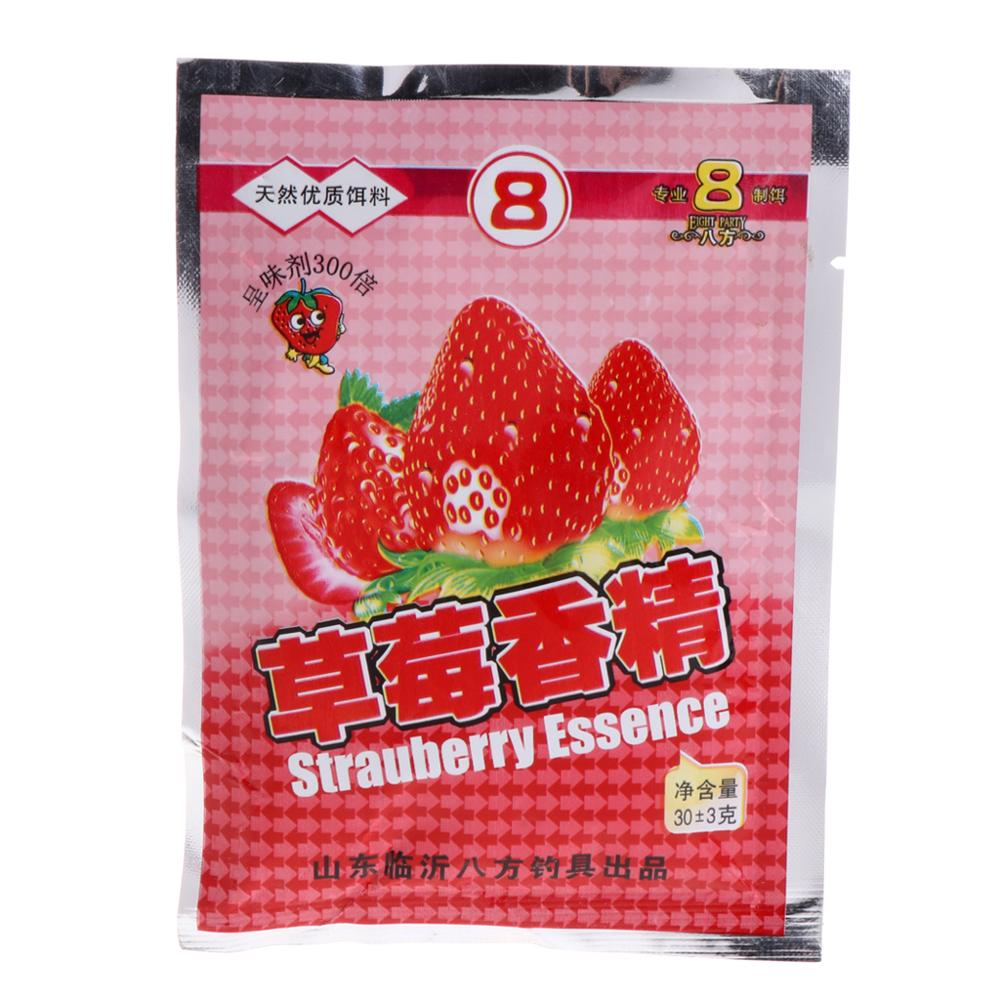 30G Strawberry Fishing Bait Flavors Powder Carp Bream Killer Food Addictive Lure image