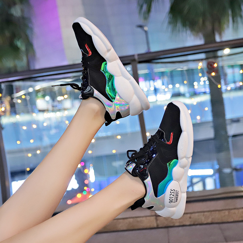 New Sneakers Women Platform Wedges Shoes Comfortable Colorful Woman Trainers Chaussures Femme Breathable Chunky