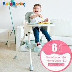 Silla de bebé brillante para niños, silla de comedor de alimentación, mesas dobles Macaron multifunción, ajuste de altura, portátil con bolsa de almacenamiento