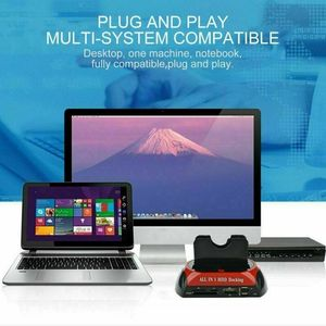 Image 3 - All In One Dual Bay 2.5นิ้ว3.5นิ้วHDD Docking Station SATA USB 2.0ถึงIDE SATA Hard Disk OTBโคลนDock With Card Reader
