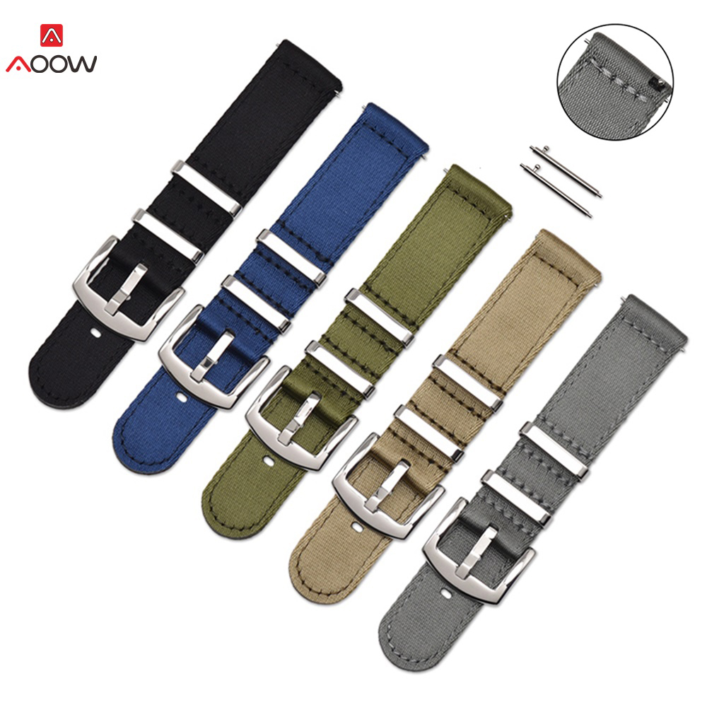 18mm 20mm 22mm 24mm Nylon Sport Strap Band Watchband Wrist Bracele For Samsung Gear S3 Frontier / Classic Galaxy Watch Active 2