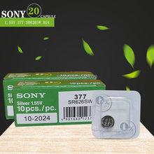 20 шт., батарейки для SONY 1,55 в AG4 377A 377 LR66 LR626 SR626SW SR66 AG4 AG 4