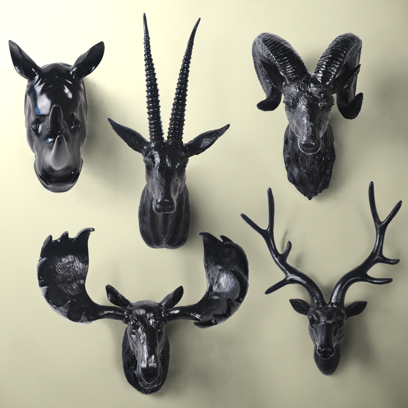 2016 Home Decoration Accessoriesthree Deer Head Hanging Wall Mural Animal Furnishing European Style Of The Ancient Ornament