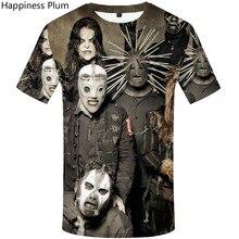 Slipknot mens clothing tshirts  Gothic t shirt skull 3d t-shirt Punk Rocking fashion men Summer 2019 funny shirts
