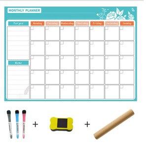 Image 2 - A3 tablica miesięczny terminarz magnetyczna tablica ogłoszeń do szkoły biuletyn tablice Memo lodówka magnes kalendarz terminarz