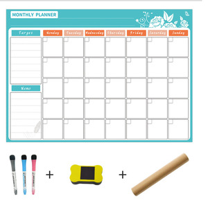 Image 2 - A3 ホワイトボード毎月プランナー磁気メッセージボード学校掲示板メモボード冷蔵庫マグネットカレンダーデイリープランナー