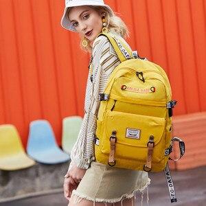 Image 3 - 대용량 대학 가방 여자를위한 학교 배낭 usb 충전 포트와 고등학교 bookbags 레이디 여성 여행 배낭