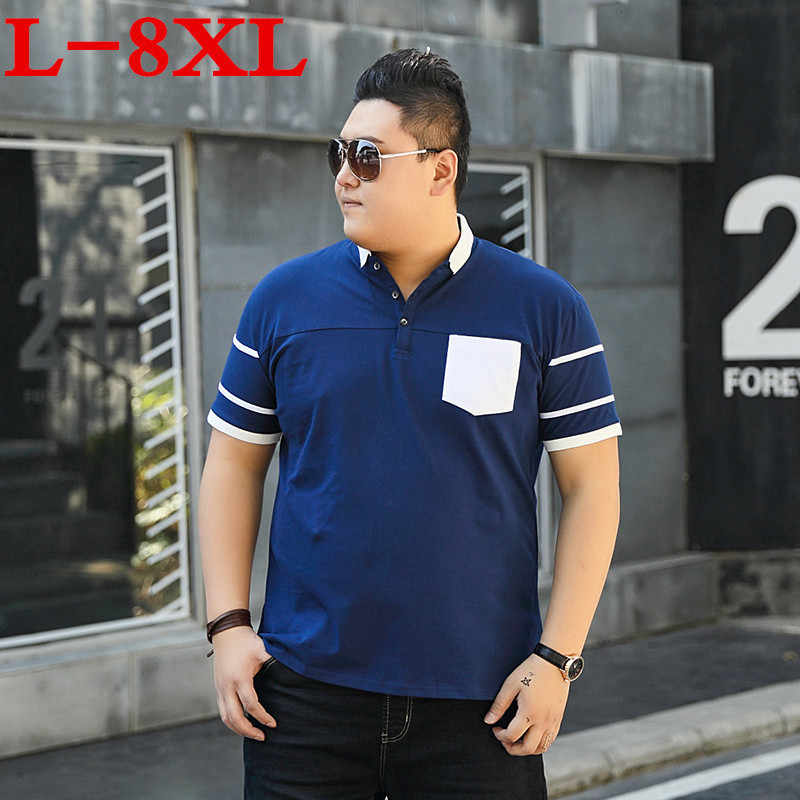 9XL 10XL 8XL Plus Size Mannen Polo Solid Korte Mouwen Losse Fit Heren Geborduurd Shirt Mannen Polo 'S Shirts Casual camisa