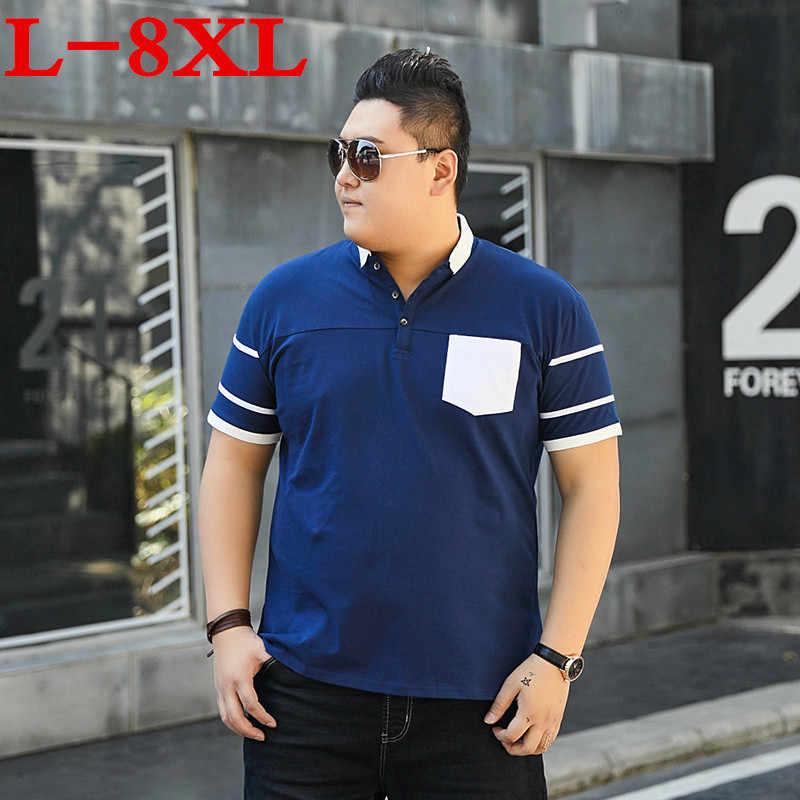 9XL 10XL 8XL プラスサイズ男性ポロシャツ半袖ルーズフィット Embroided シャツ男性はシャツカジュアルカミーサ