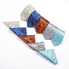 mens ties set fashion tie pocket square gifts for men black neckties polyester silk tie handkerchief men's clothing accessories(China)