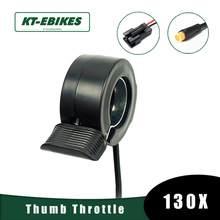 Kt kaihua 130x polegar acelerador bicicleta 130x polegar ebike 3 pinos conector à prova dwaterproof água scooter elétrico