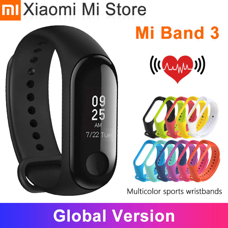 Globale Version Xiaomi Mi Band 3 Smart Armband Fitness Armband Touchscreen OLED Nachricht Herz Rate Zeit