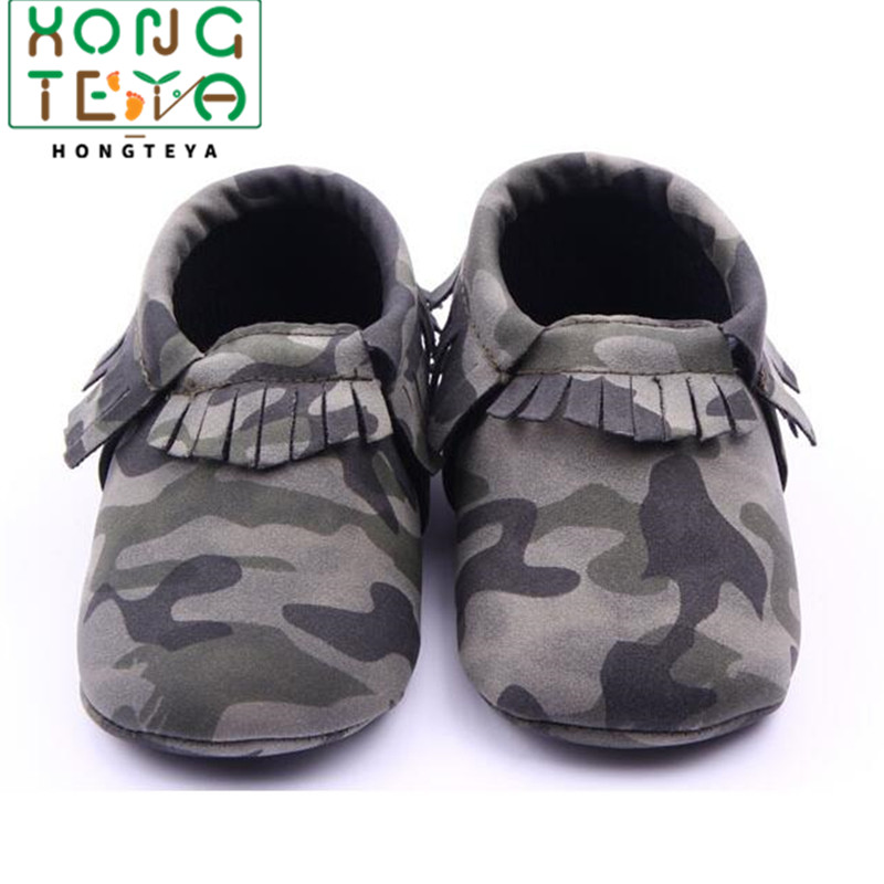 New Camo Leopard Style Infant Toddler Boys Girls Shoes First Walkers Fringe Newborn Baby Moccasins Soft Moccs Shoes