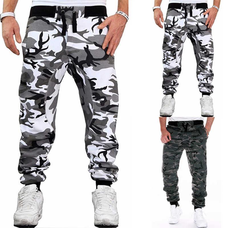 Camouflage Skateboarden Broek Voor Mannelijke Mode Toevallige Slanke Broek Mans Midden Taille Fitness Broek Broek Voor Mannen