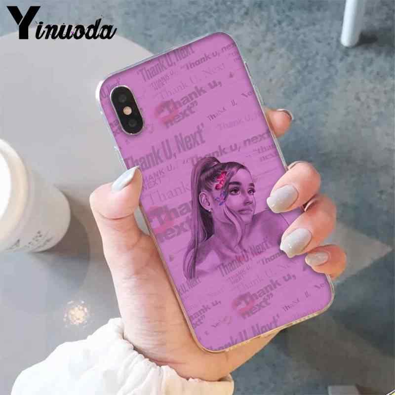 Yinuoda Ariana Grande gracias, cubierta de teléfono de carcasa suave negra para iPhone 8 7 6 6S Plus X XS MAX 5 5S SE XR 11 11pro 11promax