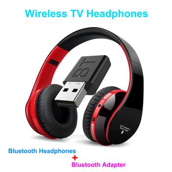 Słuchawki bezprzewodowe TV zestaw do podłączenia usb lekki zawiera Adapter Televison nadajnik dźwięku-idealny do oglądania prywatnego tanie i dobre opinie selectec Wyważone Armatura CN (pochodzenie) wireless 105dB Bluetooth Do Internetu Bar Monitor Słuchawkowe Do Gier Wideo