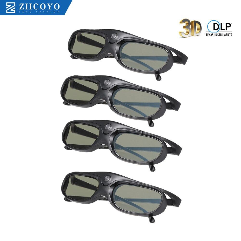 Active Shutter DLP Link 3D Glasses Compatible 96-144HZ With Optama /Acer/BenQ /ViewSonic/XGIMI DLP Link Projectors DLP 3D Ready