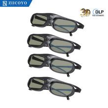 Aktywna migawka DLP Link okulary 3D kompatybilne 96-144HZ z projektorami Optama Acer BenQ ViewSonic XGIMI DLP Link DLP 3D Ready tanie tanio ZIICOYO ASEG Brak Lornetka Nie-Wciągające Migawki JX60 Okulary Tylko Pakiet 1