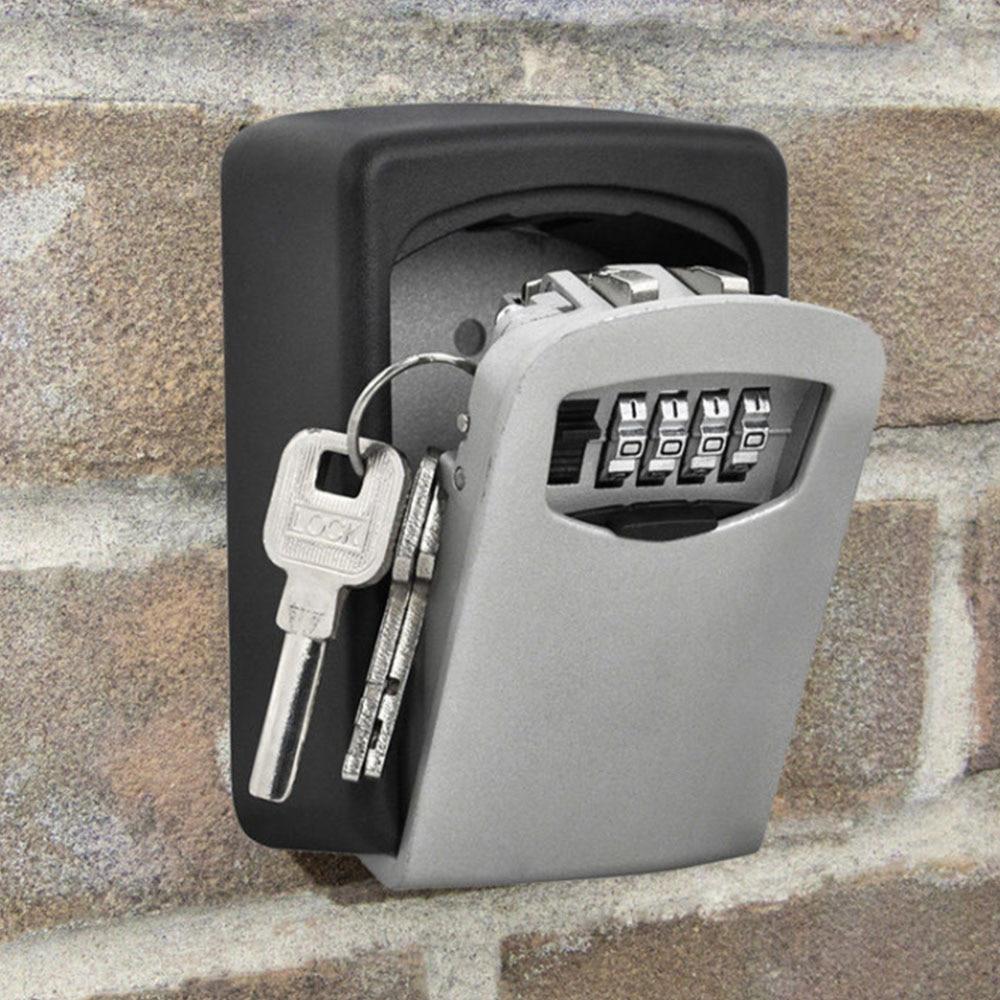 Настенное крепление для хранения ключей коробка 4 цифры по ценам от производителя Комбинации Пароль безопасности код потайной замок органа...