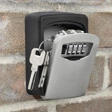 Montagem na parede caixa de armazenamento chave 4 dígitos combinação senha código segurança bloqueio secreto organizador casa chave caixa segura acessórios
