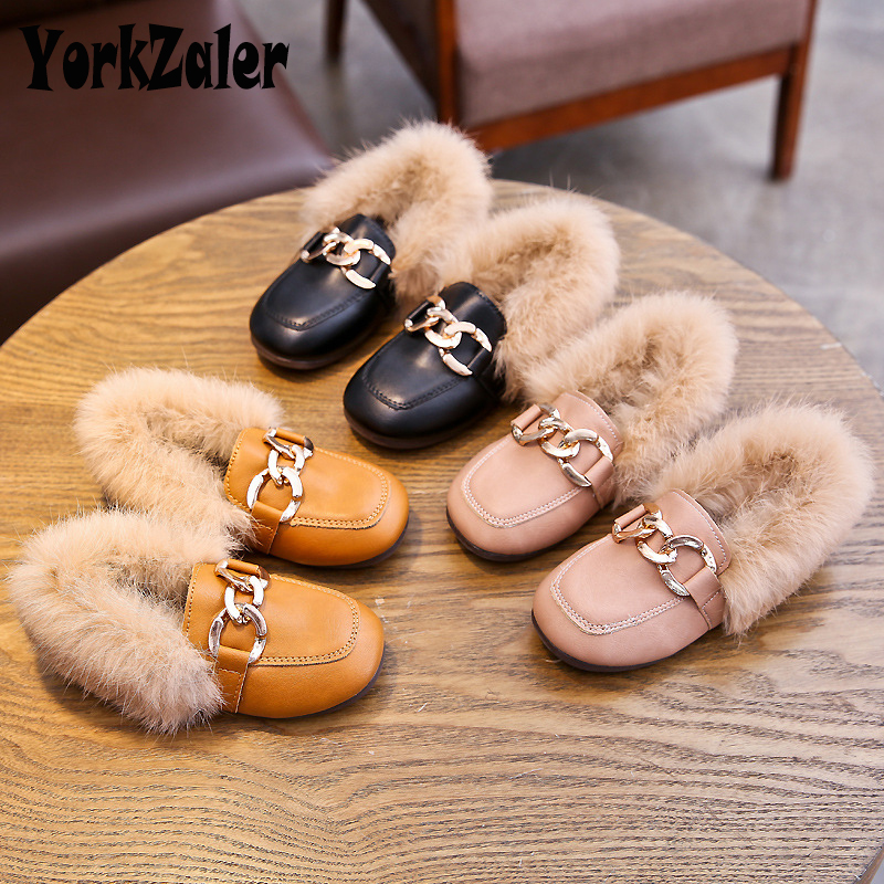 Yorkzaler Autumn Winter Fashion Kids Shoes For Girls Casual PU Leather Children Shoes Waterproof Toddler Baby Shoes Size 21-30