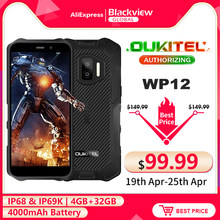 OUKITEL WP12 IP68 Waterproof Android 11 Rugged Smartphone 5.5'' HD+ Display 4GB+32GB Helio A22 NFC 4000mAh Mobile Phone