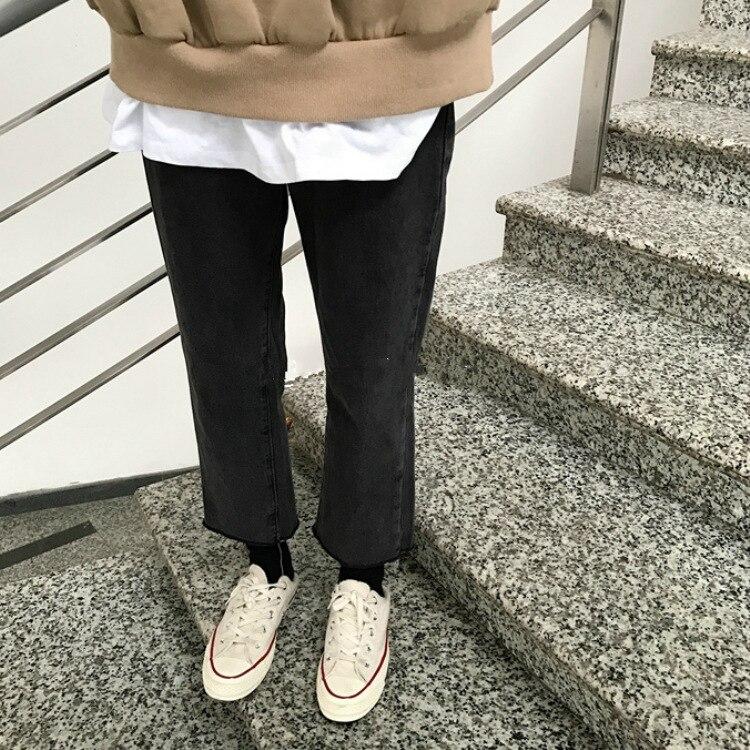 2019 Large Size Jeans Plus-sized Womenswear Size Loose Pants Plus-sized Korean-style Loose-Fit Capri Straight-leg Pants Slimming