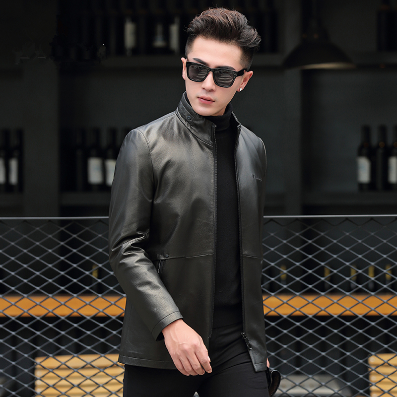 Genuine Leather Jacket Men Clothes 2020 Mens Goatskin Coats Autumn Winter Casual Jackets Chaqueta Cuero P-B8161 ZL956