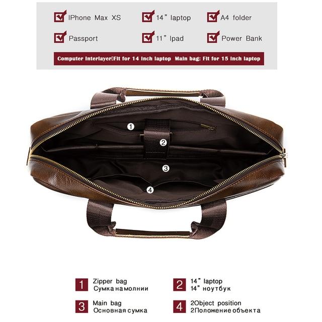 Westal bolsa de couro genuíno masculino masculino homem portátil bolsa de couro natural para homens mensageiro sacos de maletas masculinas 2019 4