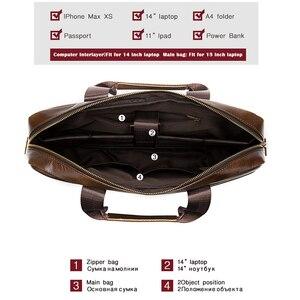Image 4 - WESTAL Bag mens Genuine Leather briefcase Male man laptop bag natural Leather for men Messenger bags mens briefcases 2019