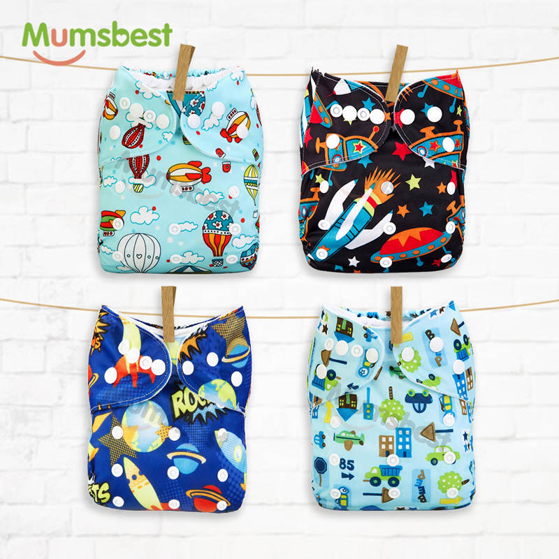 [Mumsbest] 2019 New Arrival Baby Cloth Diaper Cover Reusable Baby Nappies Cover Nappy Washable Ajustable Pocket Diapers