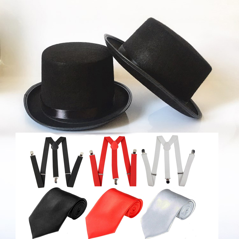 Mens Black Fedora Hat 1920s Fancy Dress Accessory Gangster Hat
