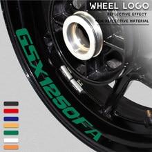 Autocollants de roue de moto autocollants décoratifs autocollants de cadre de tendance imperméables réfléchissants pour SUZUKI GSX1250FA gsx 1250fa