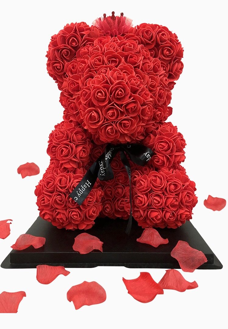 Roses-Present Wedding Bear for Valentine's-Day-Gift 23cm Foam Party-Decoration of Mini