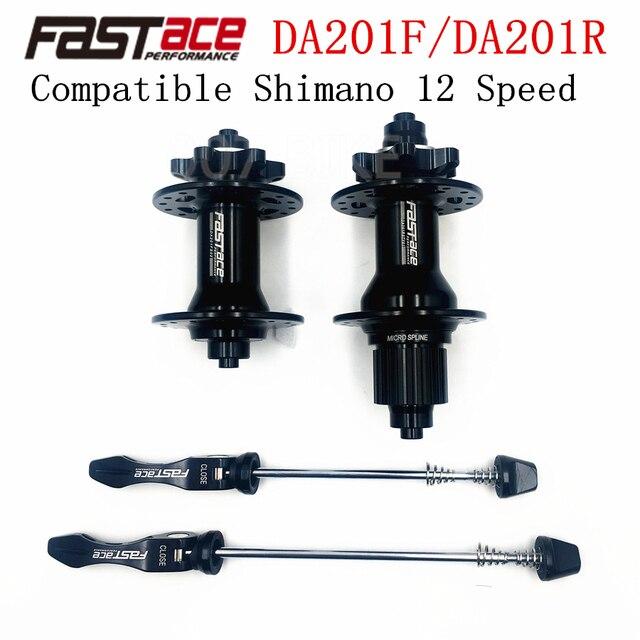 FASTACE DA201 F/R DEORE XT M8100 M7100 FH BH HUB 12 Sฮับ 32H 135X10 มม.100X9 มม.E THRUเพลาจักรยาน 12 Speed MICRO SPLINE Hub