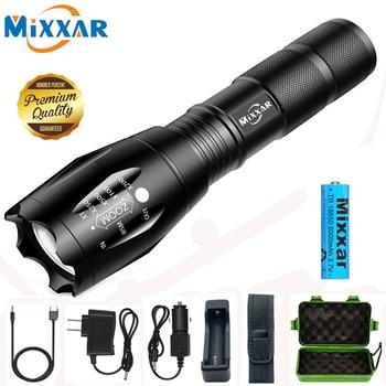 ZK20-linterna LED recargable Q250 TL360, linterna portátil con enfoque de batería de...