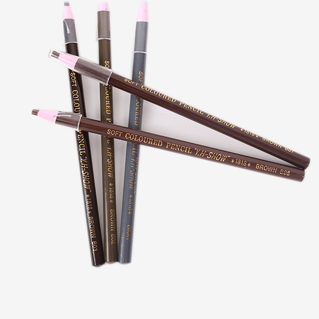 2Pcs Microblading Eyebrow Tattoo Pen Waterproof Permanent Makeup Eye brow Pencil Positioning Lip Eyebrow Tattoo supplies
