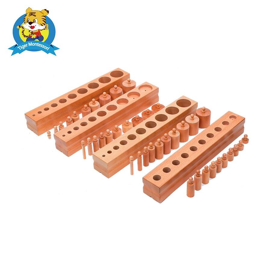 Bloque de cilindros de material montessori (Juego de 4) de juguete