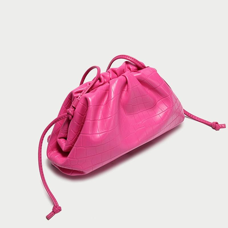 Женская сумка из натуральной кожи на заказ, сумка через плечо, модная сумка клатч, вечерние сумки с крокодиловым узором и рюшами|Сумки с ручками| | АлиЭкспресс