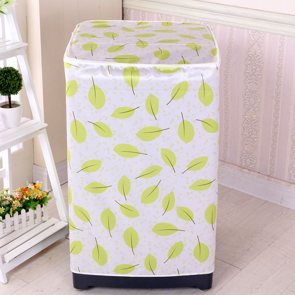 Zipper Bathroom Waterproof Washing Machine Cover Protective Front Loading Cute Dust Proof Home Case Decoration Floral Printed image