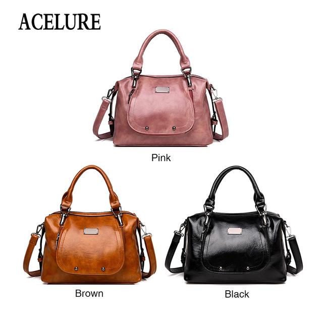 ACELURE Fashion Shoulder Bag PU Leather Handbag Casual Elegance Women Messenger Bags High Quality PU Crossbody Bags Ladies Purse