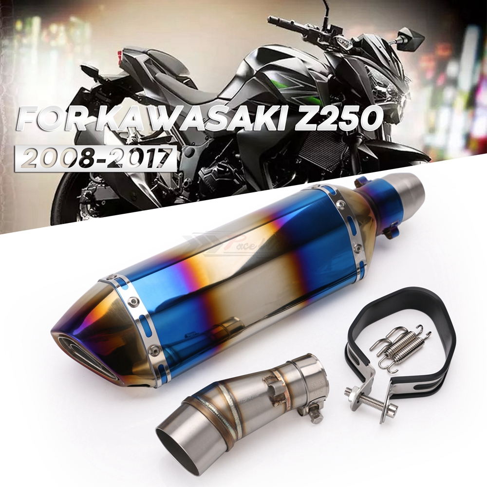 Linekong Motorcycle Slip on Exhaust system With Muffler Fit For ...