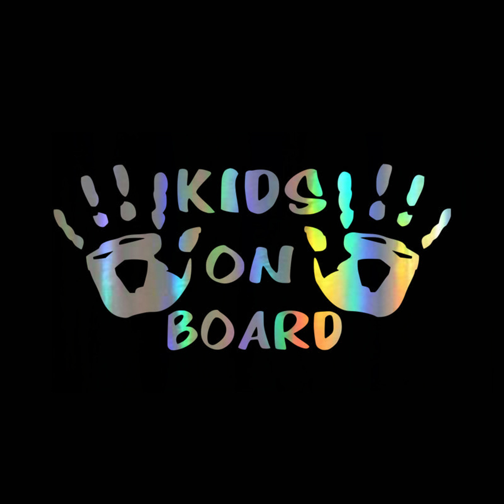 KIDS ON BOARD Funny Cool Vinyl Car Stickers Decals Car Styling Car Body Window Personalized Warning Sign Car Stickers