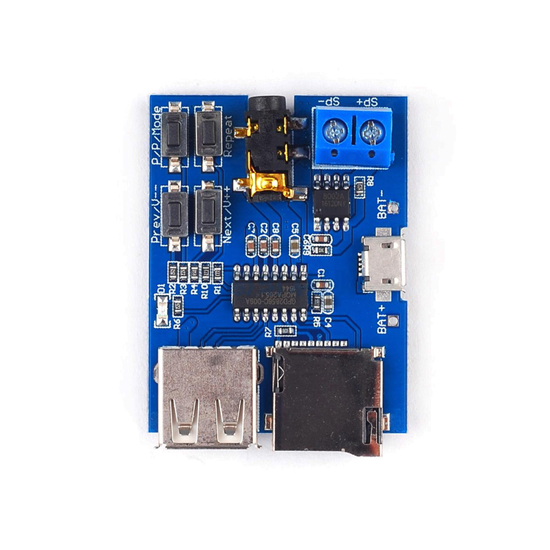 MP3 Lossless Decoding Board Arduino Speaker DIY Amplifier Kit Audio Player Decoder Module With TF Card U Disk